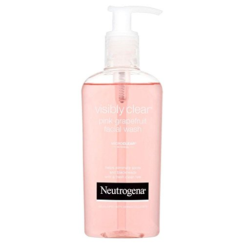 Neutrogena Visibly Clear Oil-Free Pink Grapefruit Facial Acne Wash (200ml) - Pack of 2