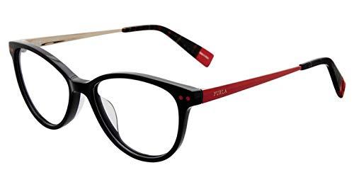 Furla Women's Eyeglasses VFU083 VFU/083 0700 Black Full Rim Optical Frame 51mm