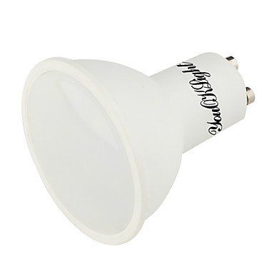 YouOKLight 1PCS GU10 5W 400LM AC85-265V 10SMD 5730 LED Warm White/Cool White 3000K/6000K Plastic Coated Aluminum LED Spotlight , 85-265v