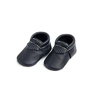 Freshly Picked - Rubber Mini Sole Leather City Moccasins - Toddler Girl Boy Shoes - Infant/Toddler Sizes 3-7 - Multiple Colors