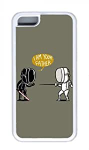 Fencing Star Wars Miracaly Iphone 5C White Sides Rubber Shell TPU Case