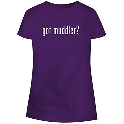 (One Legging it Around got Muddler? - Women's Soft Junior Cut Adult Tee T-Shirt, Purple, X-Large)