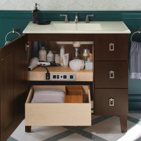 fill your customized storage solutions - Kohler Vanity