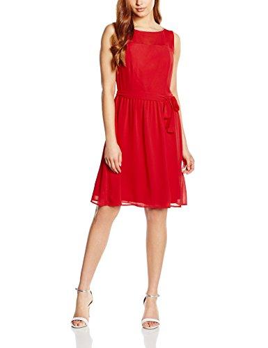 S.Oliver Premium Mit Strassschmückung, Vestido para Mujer Rojo (bloody mary 3350)