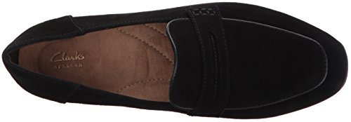 Black Penny Cora Black Keesha Women's Clarks Suede Loafer Xtvqcz