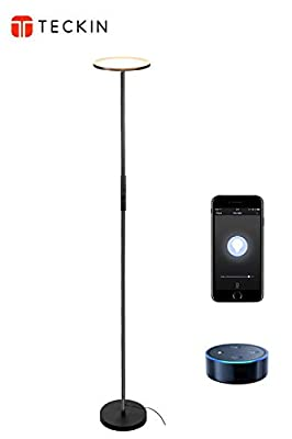 Floor Lamp, Sky LED Torchiere Smart Light,TECKIN Dimmable Standing Light with Remote Control, Torchiere Floor Lamp for Living Room, Bedroom,Office (Compatible with Amazon Alexa Google Home)