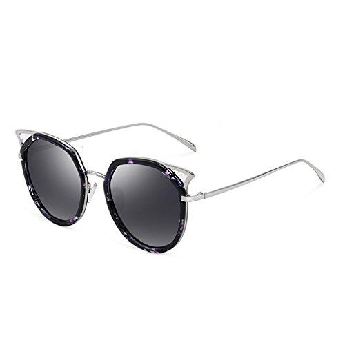 Cat Sunglasses Color Lady Sunglasses Fashion Purple Eye New color Polarized LIUXUEPING Multi FUW5w8x0qx