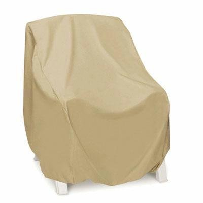 Smart Living 2D-PF30345 High Back Chair Cover With Level 4 UV Protection, Khaki