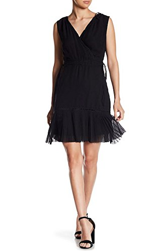 ABS COLLECTION Pleated Hem Sleeveless Dress, Black - 8