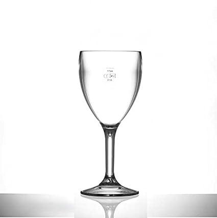 80d3cd67595 Pack of 6 Rigid Reusable Plastic Wine Glasses - Dishwasher Safe