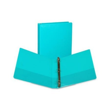 (Samsill U86377 Fashion View Binder Round Ring 11 x 8-1/2 1-Inch Capacity Turquoise 2/Pack)