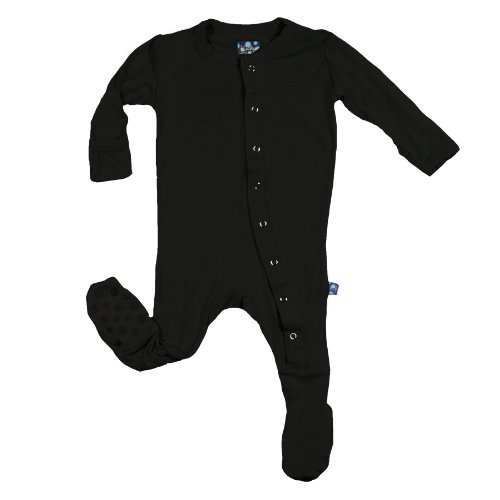 KicKee Pants Baby-Boys Printed Footed Coverall (Midnight, Newborn) - Newborn Printed Coverall