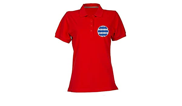 T-Shirtshock Polo para Mujer Rojo WC0212 Bayern Munich Old School ...