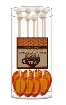 Orange Blossom Honey Tea Spoon Stirrers Made With Real Honey (8Ct) ()