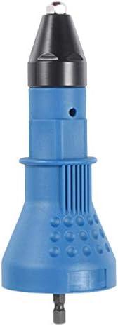 リベットガン リベットドリル リベットナットガン 電気リベットドリルアダプタ 小型 軽量 全2色 - 青