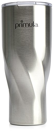 Primula Avalanche Double Wall Vacuum Sealed Travel Water Bottle 32 oz - Brushed Stainless Steel ()