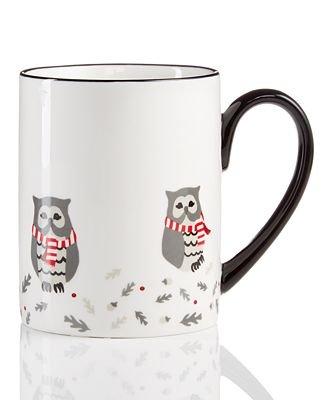 Martha Stewart Collection Pups & Plaids Owl Mug