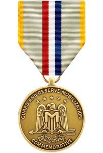 Medals of America National Guard and Reserve Mobilization Commemorative Medal - National Ribbons Army Guard
