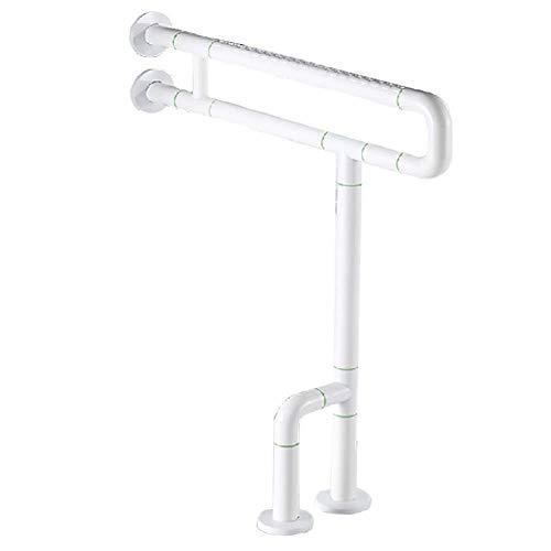 (Stainless Steel Floor-Standing Grab Rails/Safety Non-Slip Armrest - Wall Mount Toilet Handrails Disabled Shower Safety Bars Bathtub Grab Bar for Elderly,White)