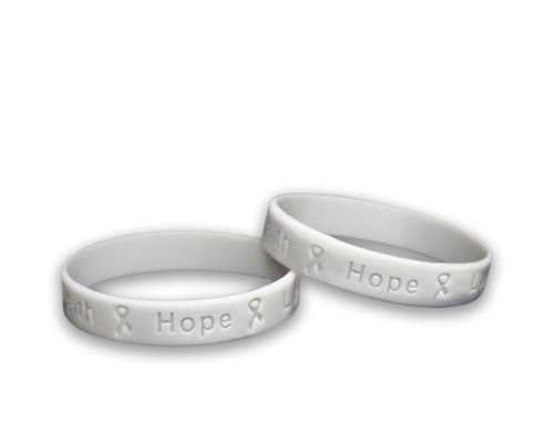 Fundraising For A Cause 50 Brain Cancer Awareness Silicone Bracelets - Adult Size (Wholesale Pack - 50 Bracelets)