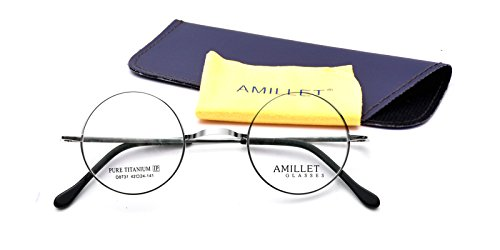 732627430fd Amillet 42mm Retro Round Titanium Prescription Eyeglass Frames