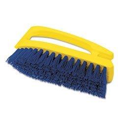 - Long Handle Scrub Brush, 6'' Brush, Yellow Plastic Handle/Blue Bristles