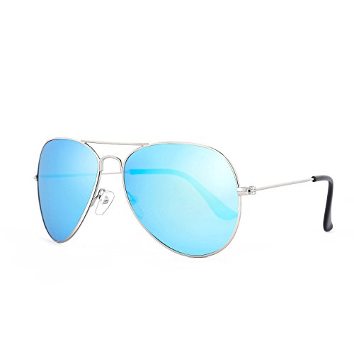 ROLF ROSSINI Aviator Polarized Sunglasses for Mom (Silver, Blue - Sunglasses Blue Arctic
