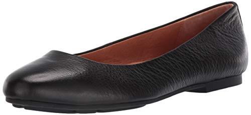 Gentle Souls Women's Eugene Ballet Flat Loafer, Black, 9 M US