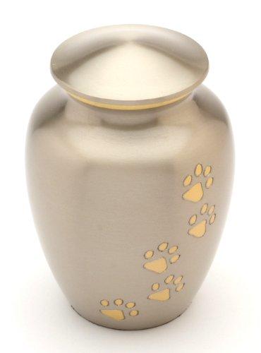 Urns UK Matlock Gedenkurne für Haustiere, Zinnoptik, 20,3cm