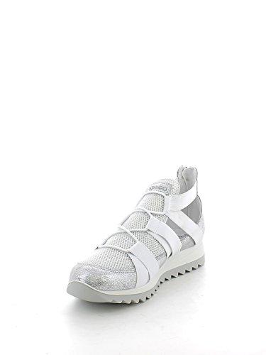 IGI&CO 7770 Argento Scarpa Donna Sneaker con Elastico Pelle Made in Italy