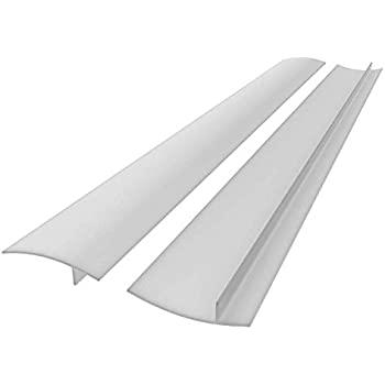 25 inches Silicone Stove Counter Gap Cover (Set of 2) Seals Out Spills Between Counters, Appliances, Dryers, Stoves, Washing Machines and More (White)