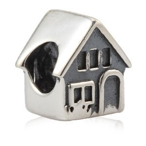 Everbling Home Sweet Home Family House 925 Sterling Silver Charm Fits Pandora Charm Bracelet