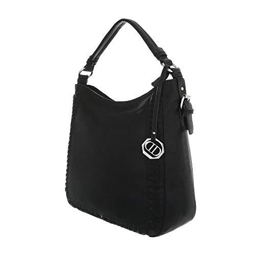 al mujer Ital para hombro Design de Bolso Negro Sintético Eqqr0aH
