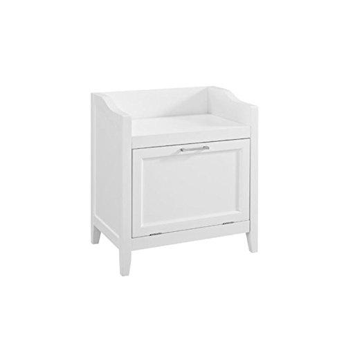 Atlin Designs Storage Hamper Bench in White