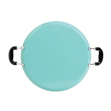 Oster Cocina 111892.01 Zadora Comal Round Carbon Steel with Bakelite Handles, Teal