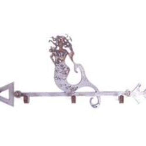 Whimsies Triple Hook Arrow with Rustic Mermaid 15 inch