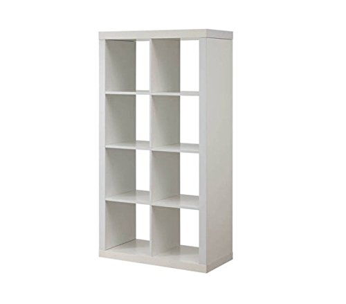 Better Homes and Gardens Furniture 8-Cube Room Organizer Storage Divider/Bookcase (White) from Better Homes & Gardens