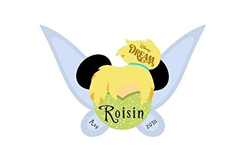 LARGE Personalized Disney Inspired Tinkerbell Magnet for Disney Cruise with your Name -