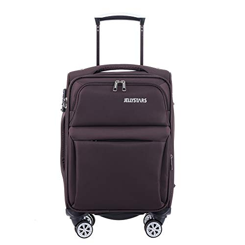 JELLYSTARS Updated 20 inch Softside Spinner Luggage with Wheels Boarding Travel Suit Cases Carry-on Tourist Suitcases…