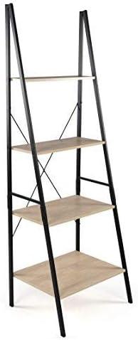 Tot Tutors Bookcase 4-Tier 71 Tall Wood Ladder Shelf