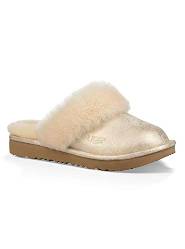 Sparkle Uggs Kids (UGG Girls' K Cozy II Metallic Slipper, Gold, 4 M US Big)