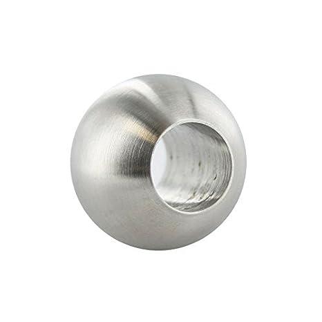 Edelstahlkugel massiv /ø 30mm mit 14,2mm Durchgangsbohrung