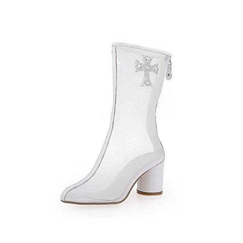 Blanc Sandales Compensées SLC03928 Femme AdeeSu wCxIaI