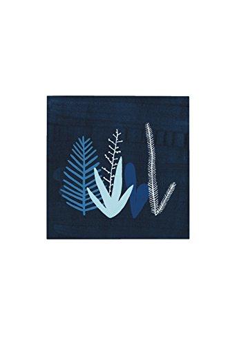 Command Décor Damage-Free Wall Tile Kit, Blue Garden