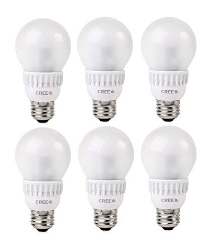 Cree BA19-04527OMN-12DE26-2U110 TW Series 40W Equivalent A19 LED Light Bulb, 2700K, Soft White (6-Pack)