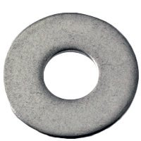 1/4''x3/4''x0.063 FLAT WASHER | A2 STAINLESS STEEL (18-8) | N400 | (QUANTITY: 100)
