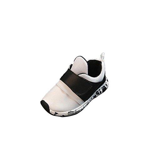 Igemy 1 Paar Baby Mode Soild Sneaker Kinder Kleinkind Breathable Casual Schuhe Weiß