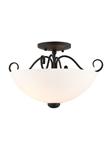 Livex Lighting 4461-04 Heritage 2-Light Ceiling Mount, Black
