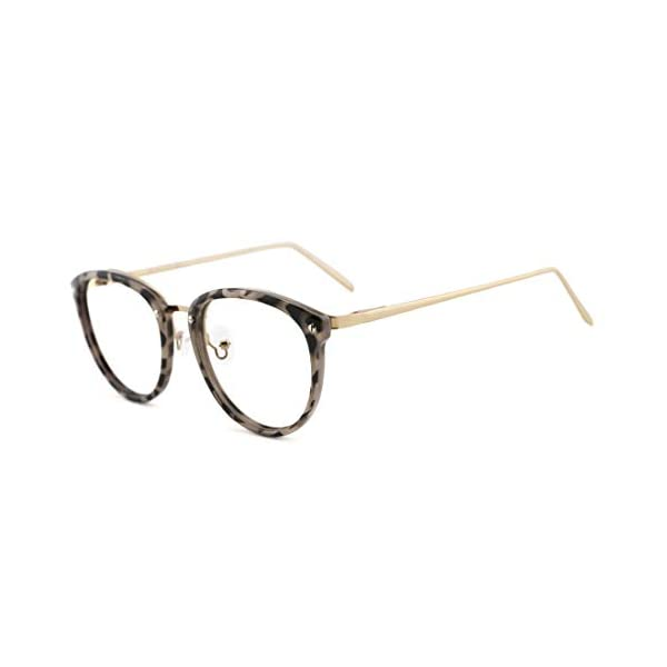 TIJN Vintage Round Metal Optical Eyewear Non-prescription Eyeglasses Frame for Women