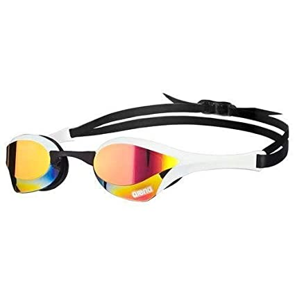 f66d82f5b281 Arena Cobra Ultra Mirror Swim Goggle-Mirrored Lens-Red Revo White Blk   Amazon.co.uk  Sports   Outdoors